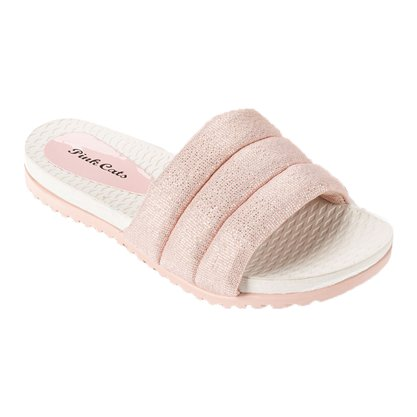 Chinelo Slide Pink Cats - Rosa