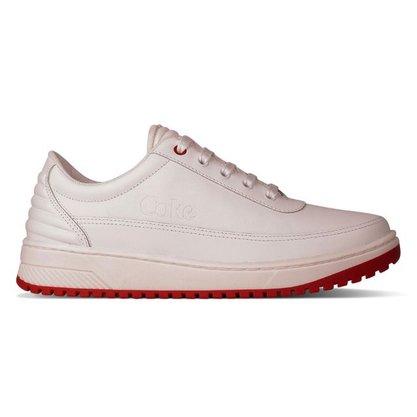 Tênis Coca-Cola Shoes Branco com Vermelho